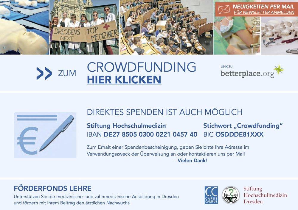 Banner Spenden Fit für die Klinik Crowdfunding Medizin Dresden