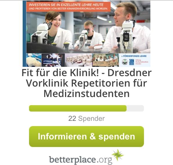 Jetzt spenden! Fit für die Klinik Repetitorien - Medizin Dresden
